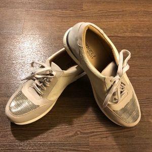 Vaneli Sport Gray and Cream Comfort Sneakers 9.5